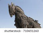 trojan horse in movie troy in...   Shutterstock . vector #710651263