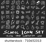 freehand drawing school items . ... | Shutterstock .eps vector #710652313