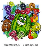 cartoon illustration of witty... | Shutterstock . vector #710652343