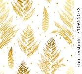 seamless pattern with golden... | Shutterstock .eps vector #710655073