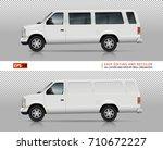 suv cars vector mock up for car ... | Shutterstock .eps vector #710672227