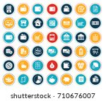 financial icons | Shutterstock .eps vector #710676007