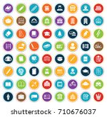 school icons | Shutterstock .eps vector #710676037