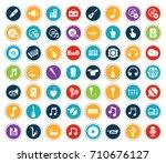 music icons   Shutterstock .eps vector #710676127