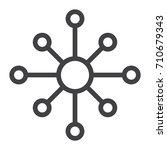 hub and spoke line icon ... | Shutterstock .eps vector #710679343