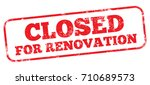 closed for renovation | Shutterstock .eps vector #710689573