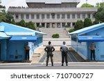panmunjom  south korea   may 16 ... | Shutterstock . vector #710700727