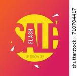 flash sale template | Shutterstock .eps vector #710704417