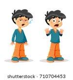 vector illustration of sleepy...   Shutterstock .eps vector #710704453