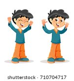 vector illustration of happy...   Shutterstock .eps vector #710704717
