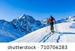 mountaineer backcountry ski... | Shutterstock . vector #710706283
