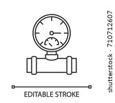 pressure gauge linear icon....