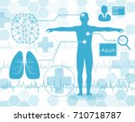 technology and science concept... | Shutterstock .eps vector #710718787