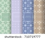 set of seamless patterns in... | Shutterstock .eps vector #710719777