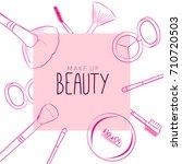 makeup beauty emblem  logo ... | Shutterstock .eps vector #710720503