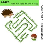 easy maze puzzle game.... | Shutterstock .eps vector #710724097