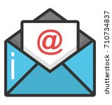 email vector icon   Shutterstock .eps vector #710734837