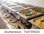 catering wedding buffet for... | Shutterstock . vector #710735023
