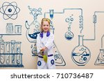 student doing research with... | Shutterstock . vector #710736487