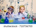 student doing research with...   Shutterstock . vector #710736703