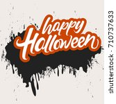 halloween banner calligraphy... | Shutterstock .eps vector #710737633
