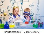 student doing research with... | Shutterstock . vector #710738077