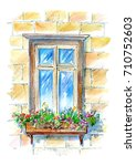 Window With Flowers.old Town...