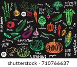 hand drawn vegetables....
