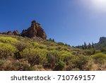 gran canaria roque nublo hike...   Shutterstock . vector #710769157