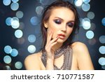 portrait of a beautiful young... | Shutterstock . vector #710771587