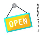 open sign  icon | Shutterstock .eps vector #710776867