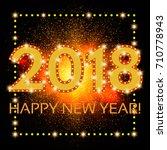 happy new 2018 year season... | Shutterstock .eps vector #710778943