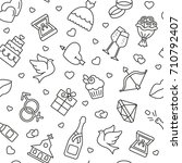wedding seamless pattern....   Shutterstock .eps vector #710792407