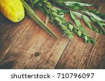 jewish festival of sukkot.... | Shutterstock . vector #710796097