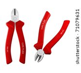 pliers isolated on a white... | Shutterstock . vector #71079631