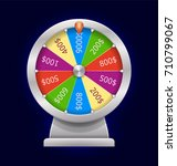 spinning wheel of fortune.... | Shutterstock . vector #710799067