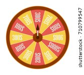 spinning wheel of fortune.... | Shutterstock . vector #710799547