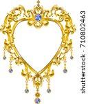 golden heart mirror | Shutterstock .eps vector #710802463