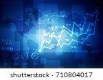 2d rendering stock market... | Shutterstock . vector #710804017