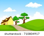 vector illustration of cartoon... | Shutterstock .eps vector #710804917
