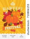 harvest festival concept layout.... | Shutterstock .eps vector #710806153