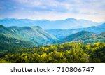 summer panorama of apennines...   Shutterstock . vector #710806747