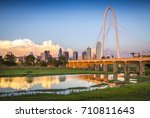 the dallas  texas skyline... | Shutterstock . vector #710811643