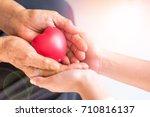 philanthropy health care... | Shutterstock . vector #710816137