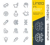 lineo editable stroke   science ... | Shutterstock .eps vector #710824123