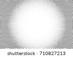 black and white dotted halftone ... | Shutterstock .eps vector #710827213