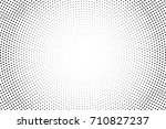 black and white dotted halftone ... | Shutterstock .eps vector #710827237