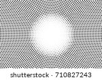 black and white dotted halftone ... | Shutterstock .eps vector #710827243