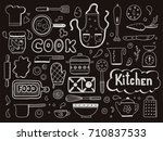 set of hand drawn doodle with... | Shutterstock .eps vector #710837533