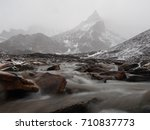 rainy mountains | Shutterstock . vector #710837773